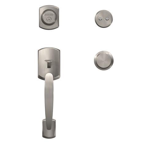 Custom Greenwich Inactive Handleset with Bowery Knob and Kinsler Trim - Satin Nickel