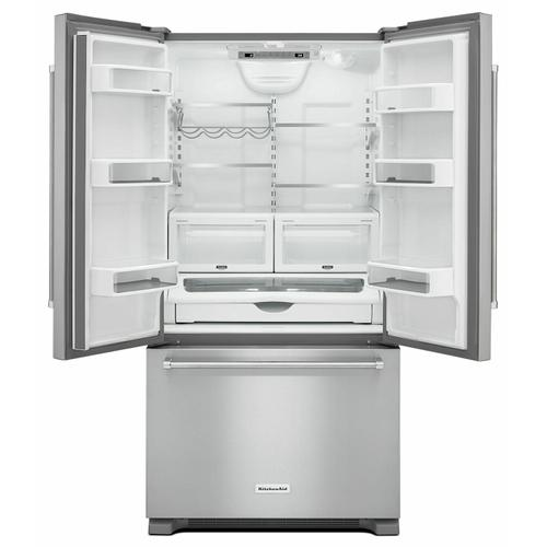 KitchenAid Canada - 22 cu.ft. 36-Inch Width Counter Depth French Door Refrigerator with Interior Dispense - Stainless Steel