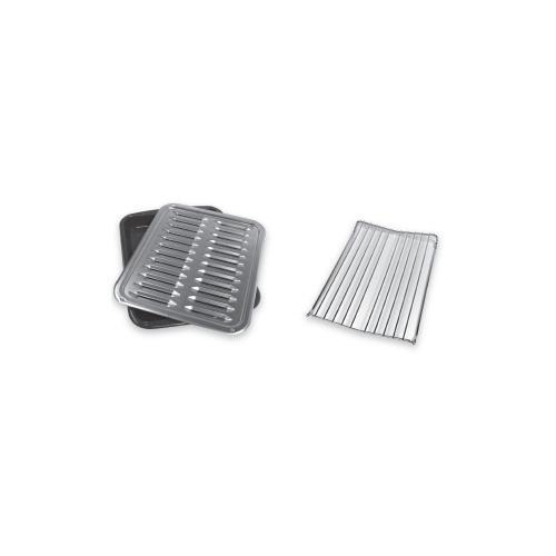 Whirlpool - Premium Broiler Pan and Roasting Rack
