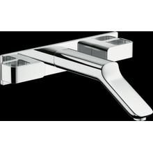 Chrome Wall-Mounted Widespread Faucet Trim with Base Plate, 1.2 GPM