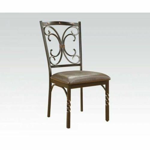 Acme Furniture Inc - ACME Burril Side Chair (Set-2) - 70586 - PU