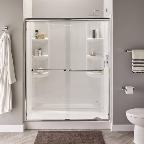 Studio 60x32-inch Shower Walls - Arctic White