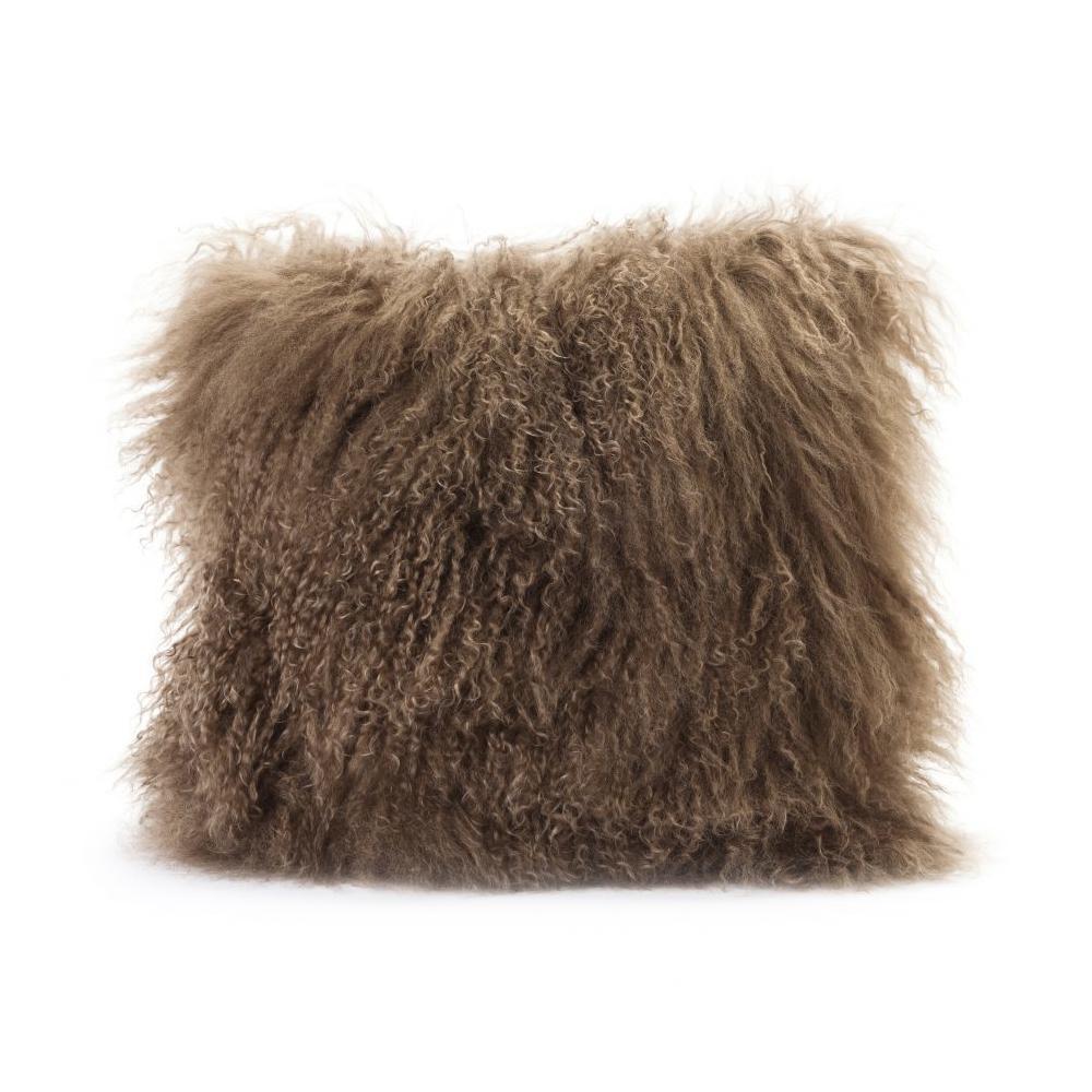 See Details - Lamb Fur Pillow Natural