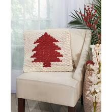 "Home for the Holiday Dc569 Ivory Red 20"" X 20"" Throw Pillow"