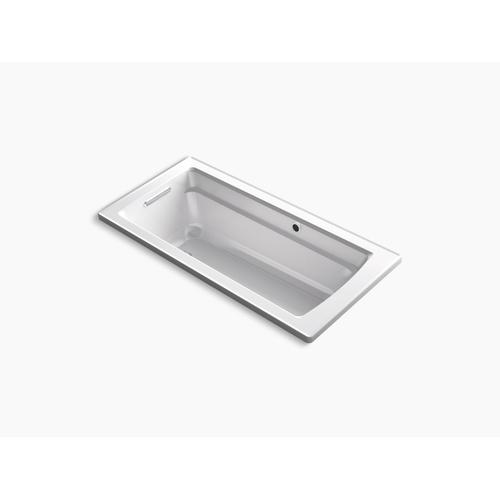 "Thunder Grey 66"" X 32"" Drop-in Bath With Bask Heated Surface and Reversible Drain"
