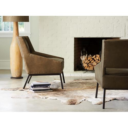 Amani Leather Chair With Charcoal Base