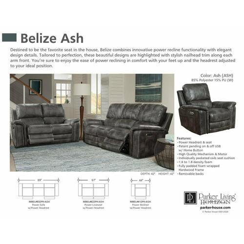 BELIZE - ASH Power Loveseat