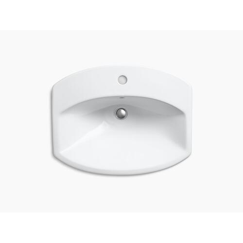 Dune Drop-in Bathroom Sink With Single Faucet Hole