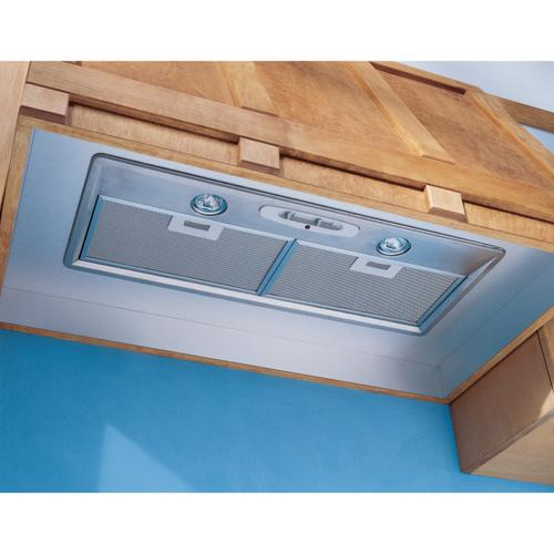 Broan® 28-Inch Power Pack Insert for External Blower Range Hood Shell w/ Light, Stainless Steel