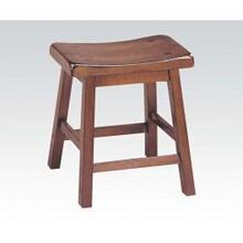 "See Details - 7303 Gaucho Walnut 18"" Solid Wood Stool"