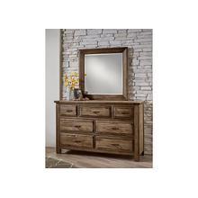 See Details - Triple Dresser - 7 Drawers w/ Landscape Mirror