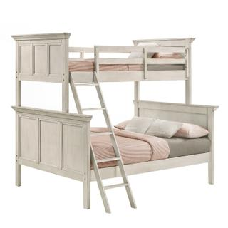 See Details - San Mateo Twin over Full Bunk Bed  Rustic White