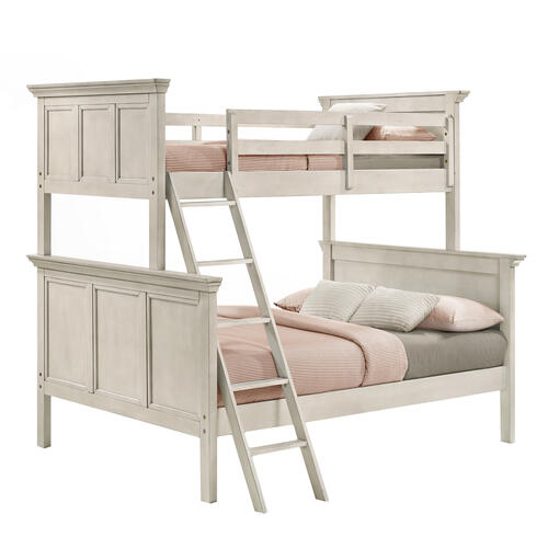 San Mateo Twin over Full Bunk Bed  Rustic White