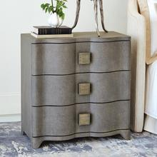 Product Image - Toile Linen Bedside Chest-Grey
