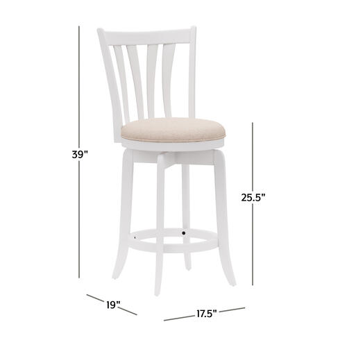 Hillsdale Furniture - Savana Wood Counter Height Swivel Stool, White