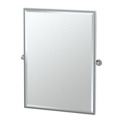 Channel Framed Rectangle Mirror in Chrome