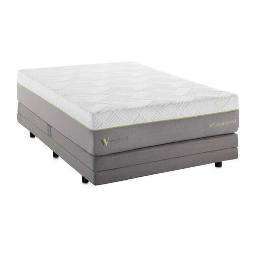 Wellsville 14 Inch Latex Hybrid Mattress Split Queen
