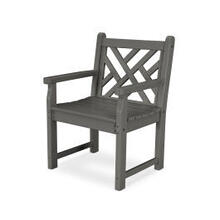 View Product - Chippendale Garden Arm Chair in Slate Grey