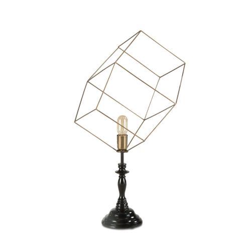 Tesla Geometric Cube Open Cage Table Lamp