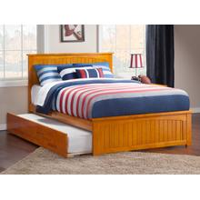 Nantucket Full Bed with Matching Foot Board with Urban Trundle Bed in Caramel Latte