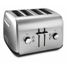 See Details - 4-Slice Toaster with Manual High-Lift Lever - Brushed Stainless Steel