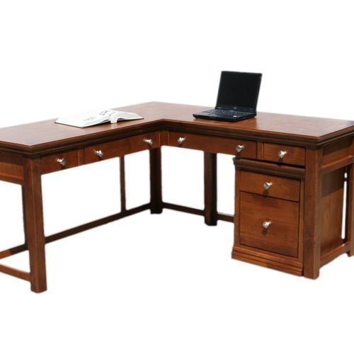 "O-T371-R Traditional Oak 60"" Laptop Desk Return"