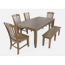 "Prescott Park 74"" Dining 4pc W/ Bench"