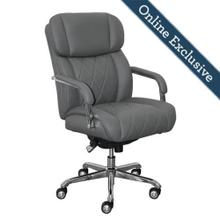 Product Image - Sutherland Quilted Leather Office Chair, Moon Rock Grey