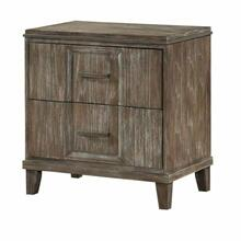 ACME Bayonne Nightstand (USB Charging Dock) - 23893 - Burnt Oak