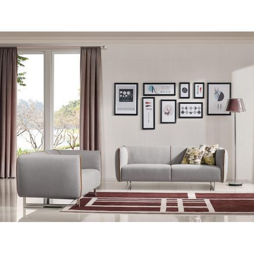 VIG Furniture - Divani Casa Medora Modern Grey & Yellow Fabric Sofa Set