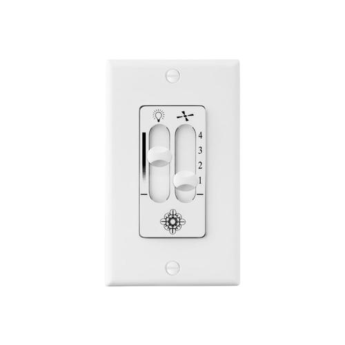 4 SPEED DIMMER WALL CONTROL WH