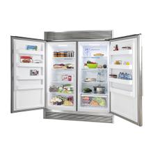"Rizzuto - Refrigerator and Freezer (two in one) 60"" Wide with 27.6 cu.ft. Total Storage w/ decorative grill allowing ventilation"