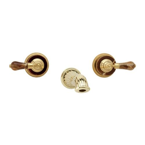 Phylrich - REGENT Wall Lavatory Set WL271 - Satin Nickel with Satin Gold