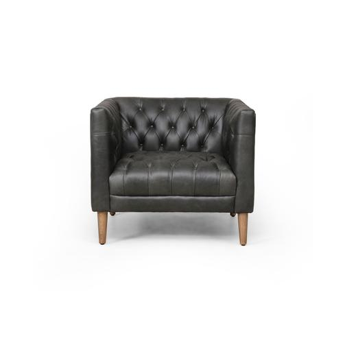 Natural Washed Ebony Cover Williams Leather Chair
