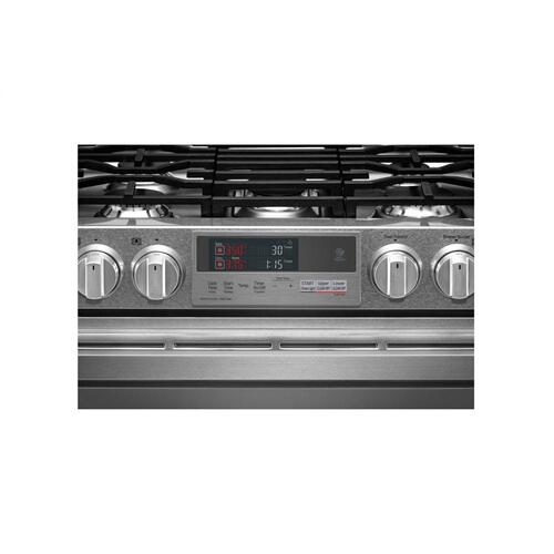 (OPEN BOX) LG SIGNATURE 7.3 cu.ft. Smart wi-fi Enabled Dual Fuel Double Oven Range with ProBake Convection®
