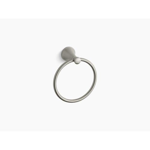 Vibrant Brushed Nickel Towel Ring