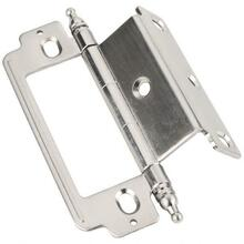 "270° Partial Wrap for 3/4"" Frame x 3/4"" Door, Inset Flush, Minaret Tip Hinge - 4"" Overall Height"
