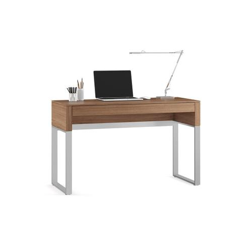 Console Laptop Desk 6202 in Natural Walnut
