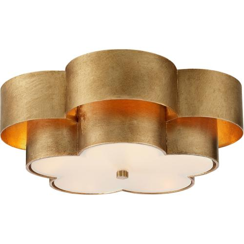 AERIN Arabelle 4 Light 20 inch Gild Flush Mount Ceiling Light, Large