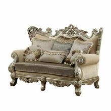 ACME Ranita Loveseat w/6 Pillows - 51041 - Fabric & Champagne