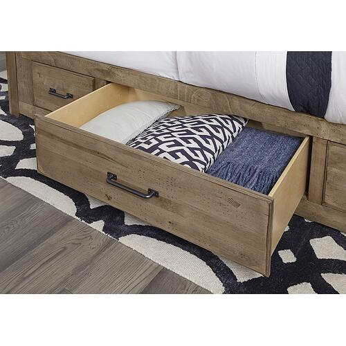 Mansion Bed with 1 Side Storage