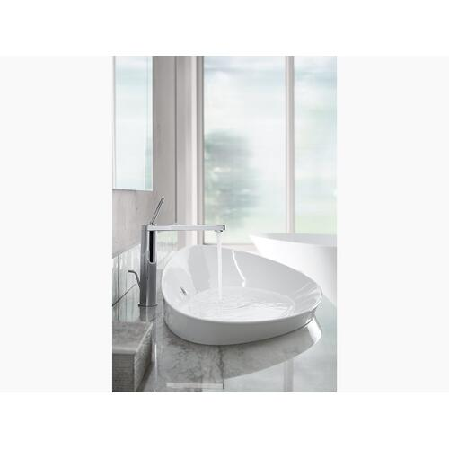 White Vessel Bathroom Sink Without Overflow