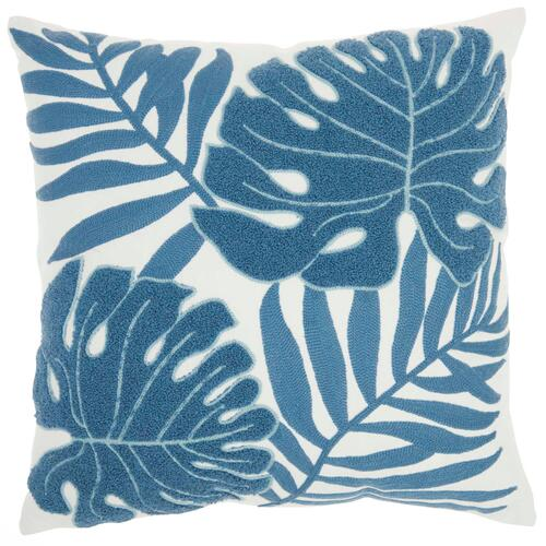 "Life Styles L0157 Blue 18"" X 18"" Throw Pillow"