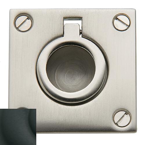 Baldwin - Satin Black Flush Ring Pull