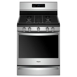 Whirlpool5.8 cu. ft. Freestanding Gas Range with Frozen Bake™ Technology Fingerprint Resistant Stainless Steel