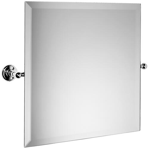 "Samuel Heath - Brushed Gold Unlacquered Tilting mirror, 17 11/16"" H x 17 11/16"" W"