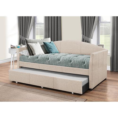 Hillsdale Furniture - Westchester Daybed W/ Trundle- Fog Fabric