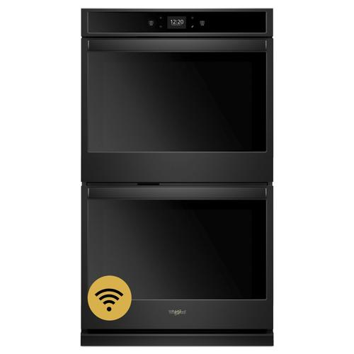 Whirlpool - 10.0 cu. ft. Smart Double Wall Oven with Touchscreen Black