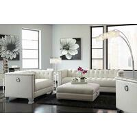 Chaviano Contemporary White Sofa Product Image