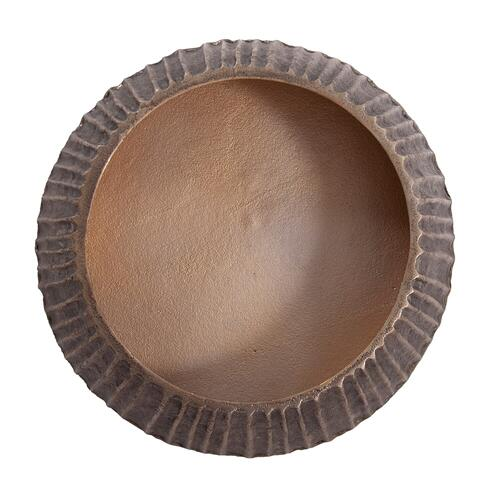 Howard Elliott - Organic Grooved Round Aluminum Bowl
